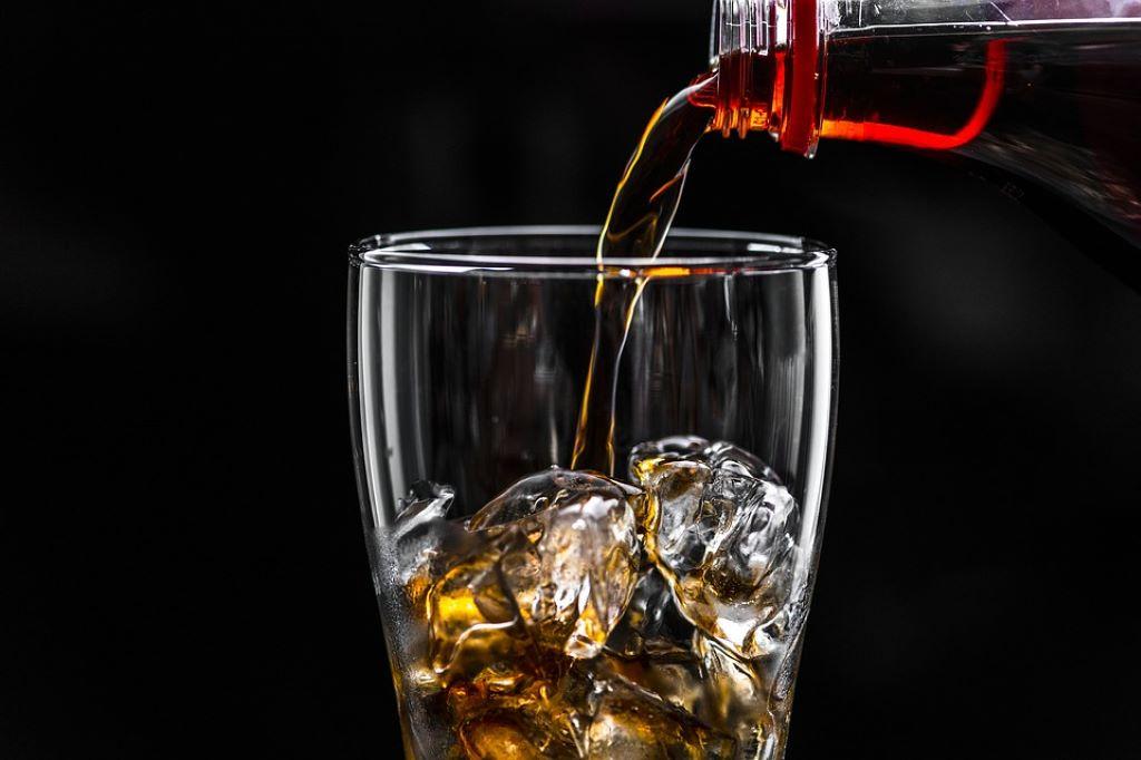 Glas mit Cola