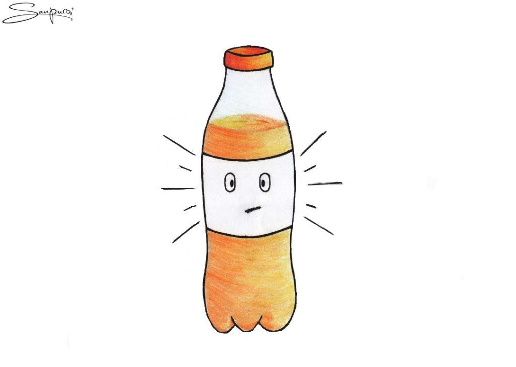 Die hibbelige Brause (Karikatur)