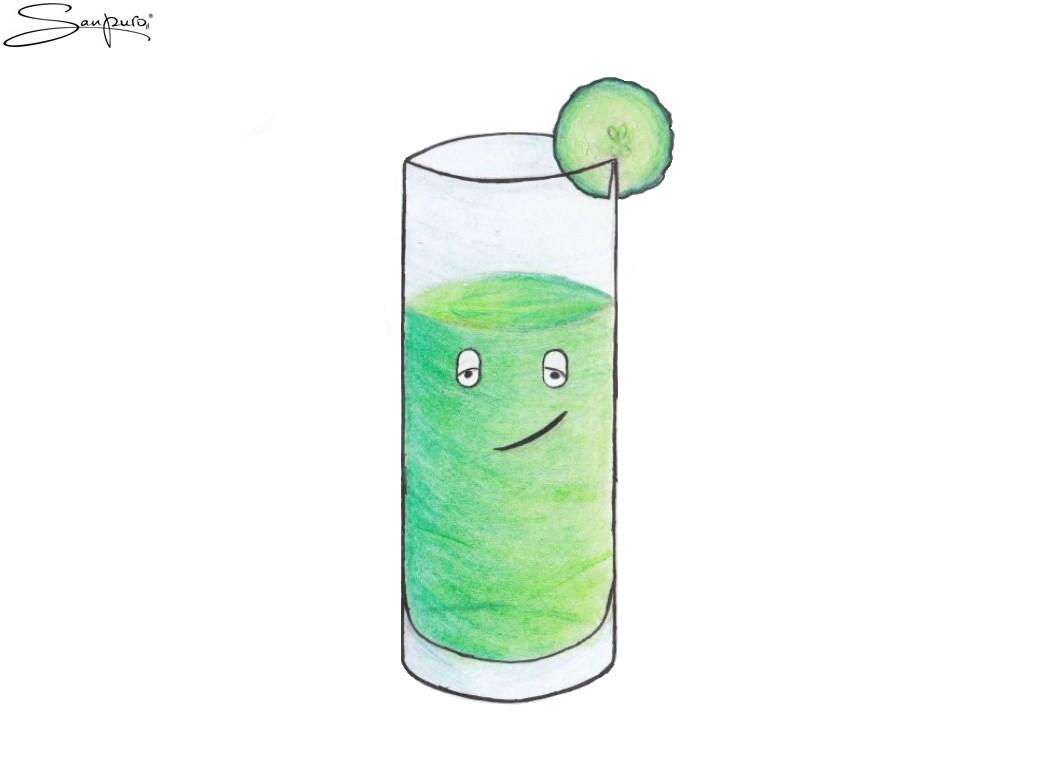 Der cool Wellnessdrink (Karikatur)