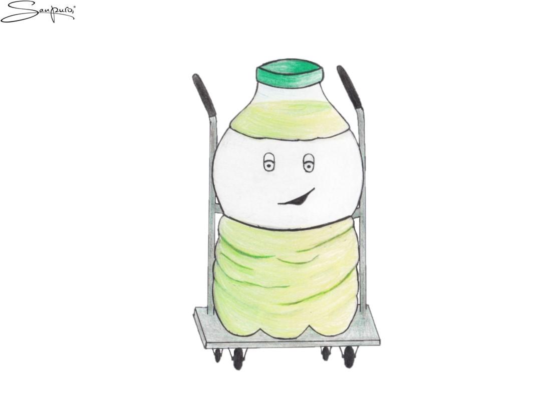 Die pummelige Limonade (Karikatur)
