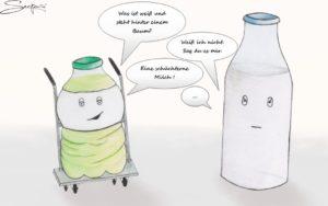 Limonade Milch Karikatur