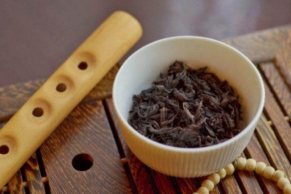 Teeblätter des schwarzen Tees