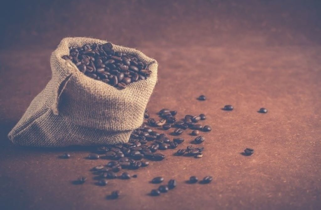 Beutel mit St. Helena Kaffee