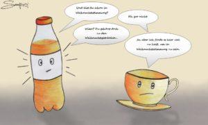 Brause Tee Karikatur